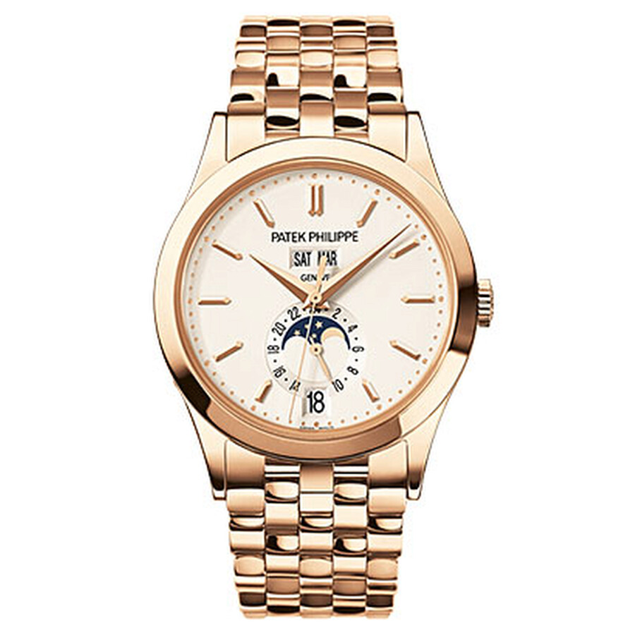 Patek Philippe Annual Calendar Silver Dial 18kt Rose Gold Mens Watch 5396-1R-010