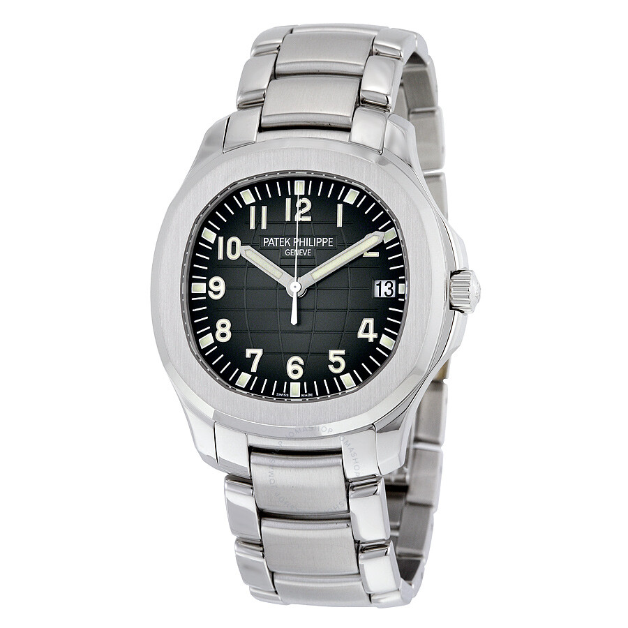 Patek Philippe Aquanaut Black Dial Stainless Steel Automatic Mens Watch 5167-1A