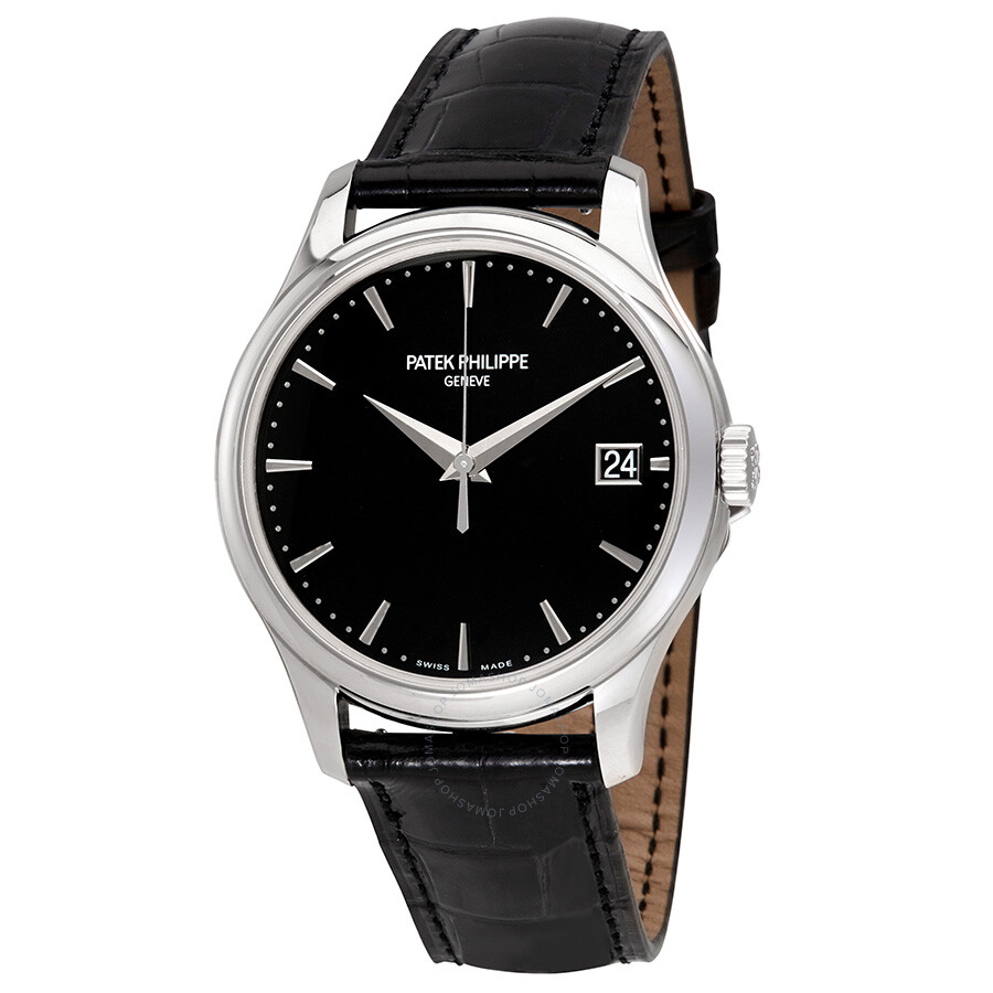 Patek Philippe Calatrava Automatic Black Dial Mens Watch 5227G-010