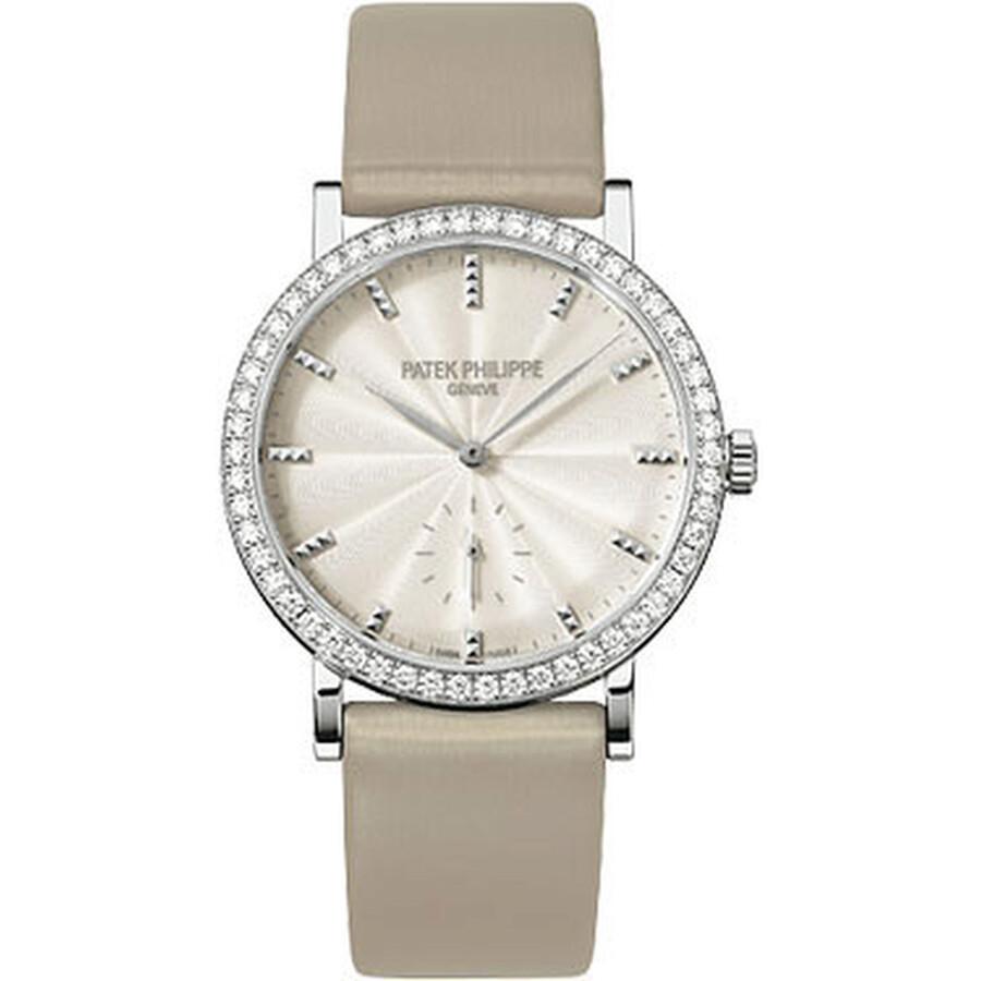 Patek Philippe Calatrava Cream Dial 18kt White Gold Ladies Watch 7120G