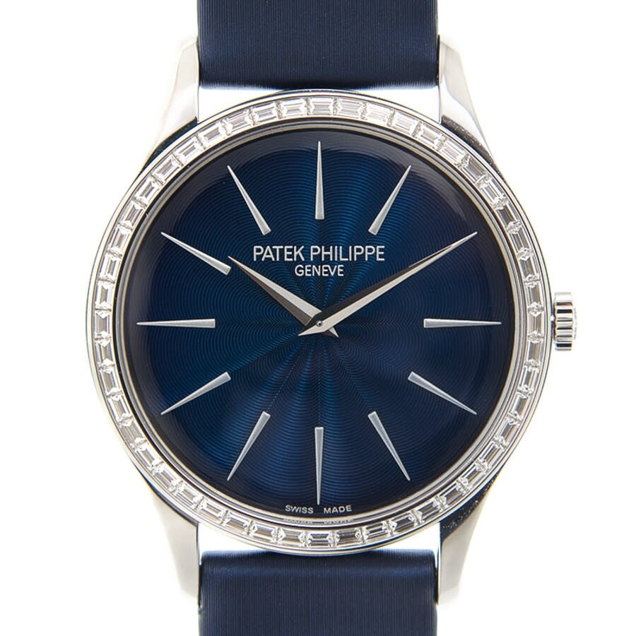 Patek Philippe Calatrava Night Blue Dial Ladies Hand Wound Watch 4897/300G-001