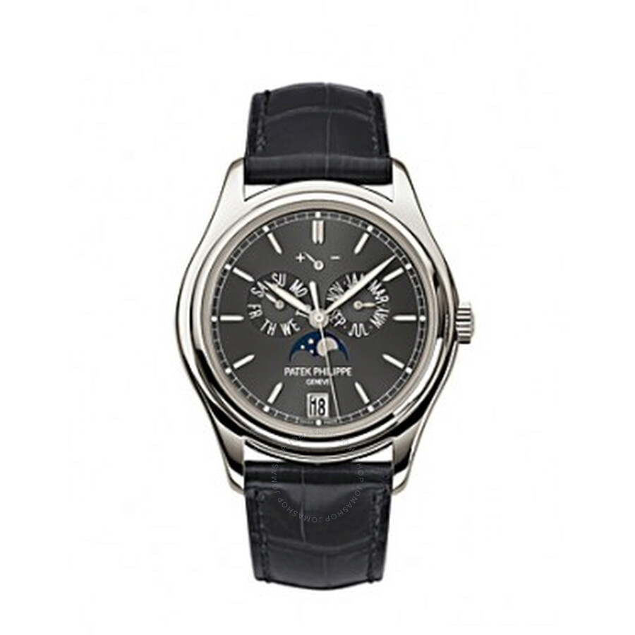 Patek Philippe Complications Automatic Moonphase Black Dial Mens Watch 5146P..