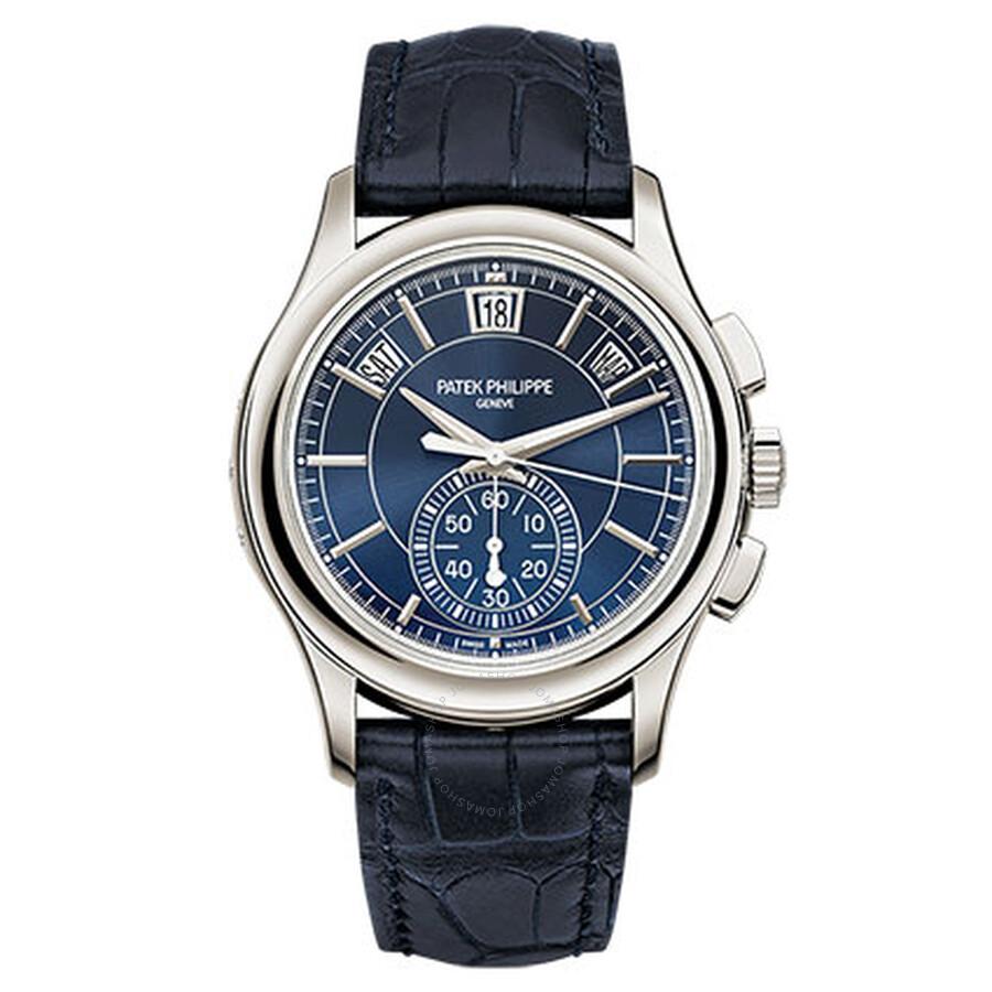 Patek Philippe Complications Blue Dial Perpetual Calendar Platinum Mens Watch 5905P-001