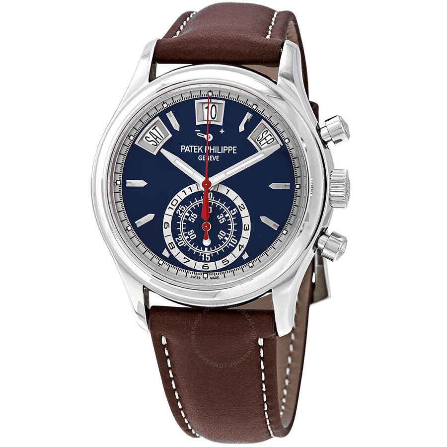 Patek Philippe Complications Chronograph Automatic Blue Dial Mens Watch 5960..