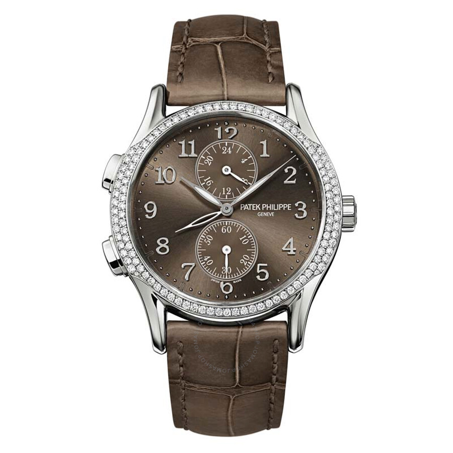 Patek Philippe Complications Chronograph Brown Dial Ladies Watch 7134G-001