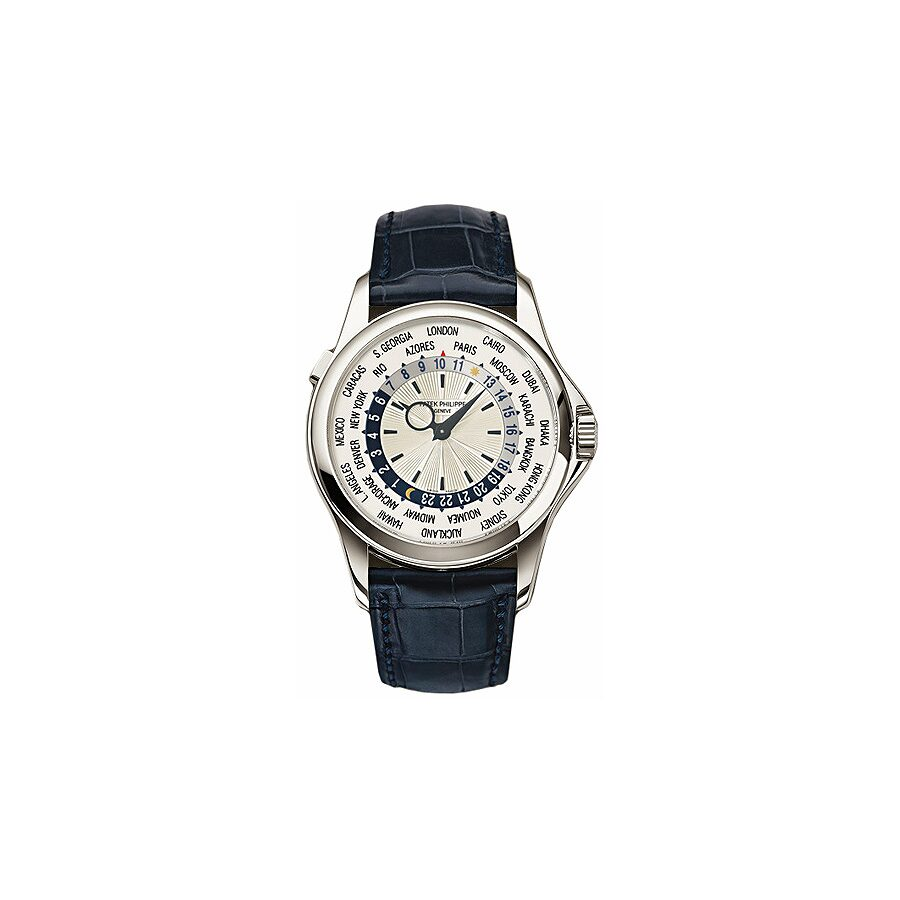 Patek Philippe Complications Silver Dial Leather Mens Watch 5130G-019