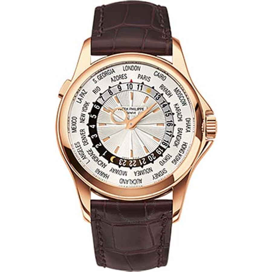 Patek Philippe Complications Mechanical Silver Dial Leather Mens Watch 5130R-018