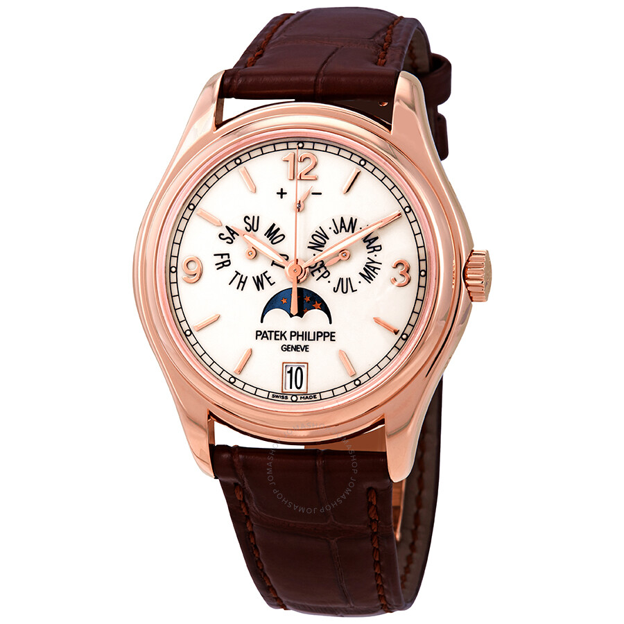 Patek philippe complications moonphase automatic 18 kt rose gold men 39 s watch 5146r complicated for Patek philippe