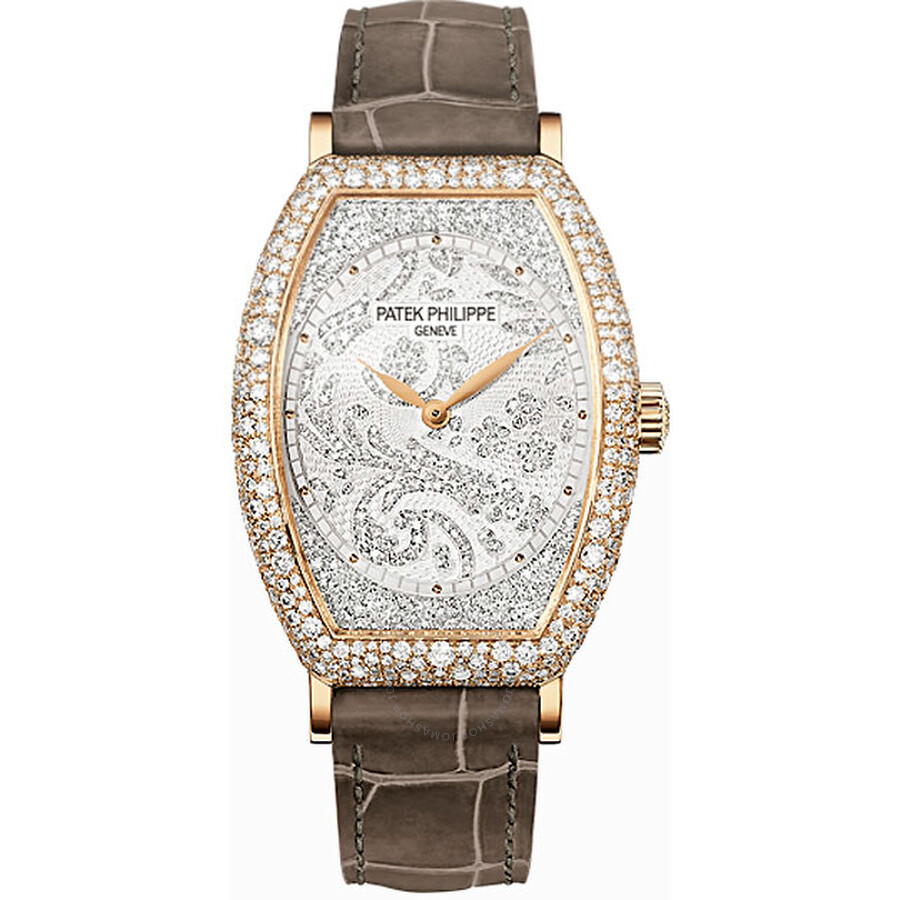 Patek Philippe Gondolo Mechanical Gold and Diamond Dial Ladies Watch 7099R-001