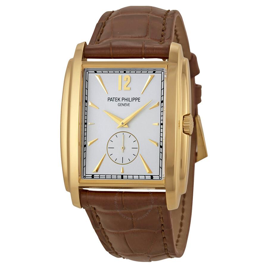 Patek philippe gondolo silver dial men 39 s watch 5124j 001 gondolo patek philippe watches for Patek watches