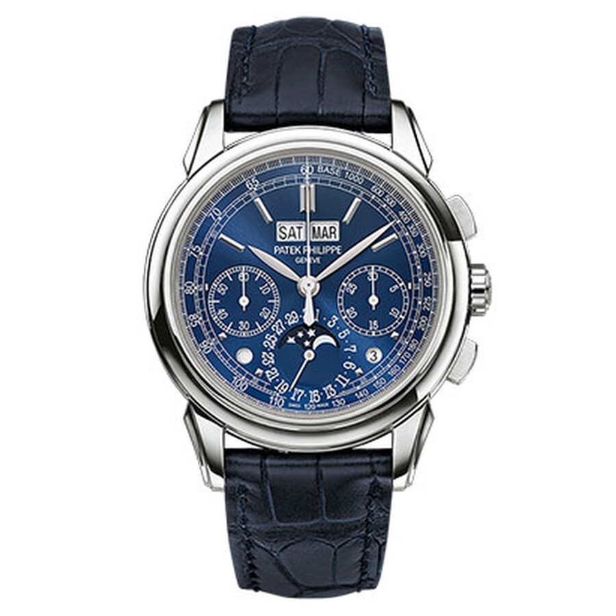Patek Philippe Grand Complication Blue Dial Chronograph Mens Watch 5270G-019