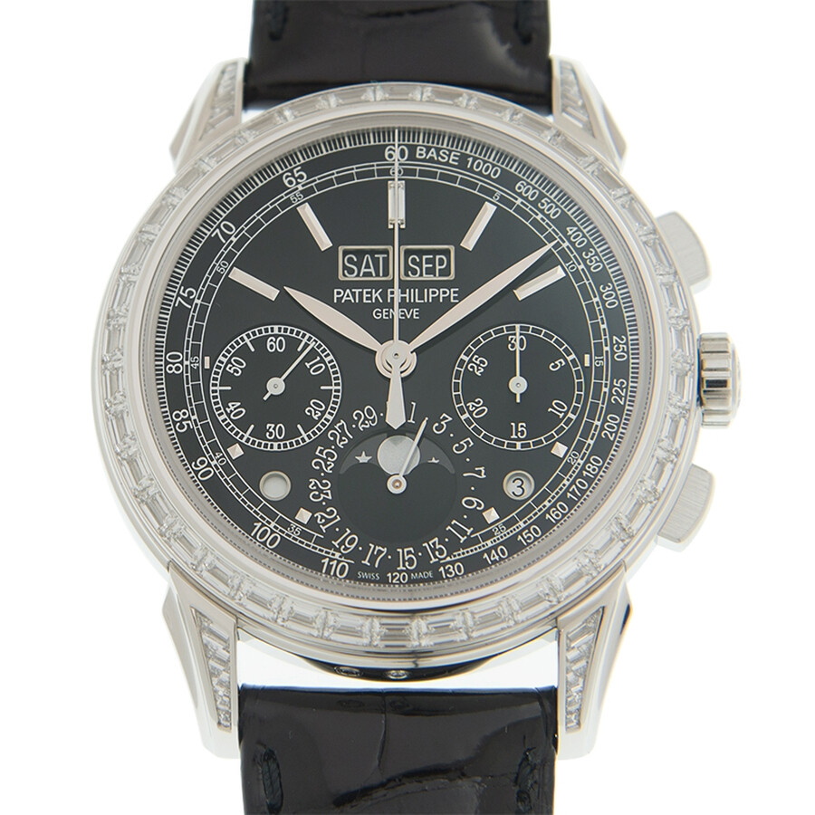 Patek Philippe Grand Complications Black Lacquered Dial Automatic Mens Watch..