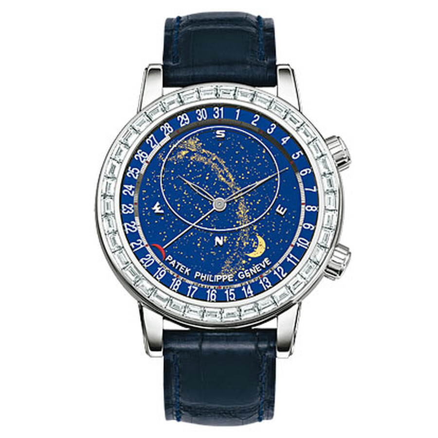 Patek Philippe Grand Complications Celestial 18K White Gold Diamond Mens Watch 6104G-001