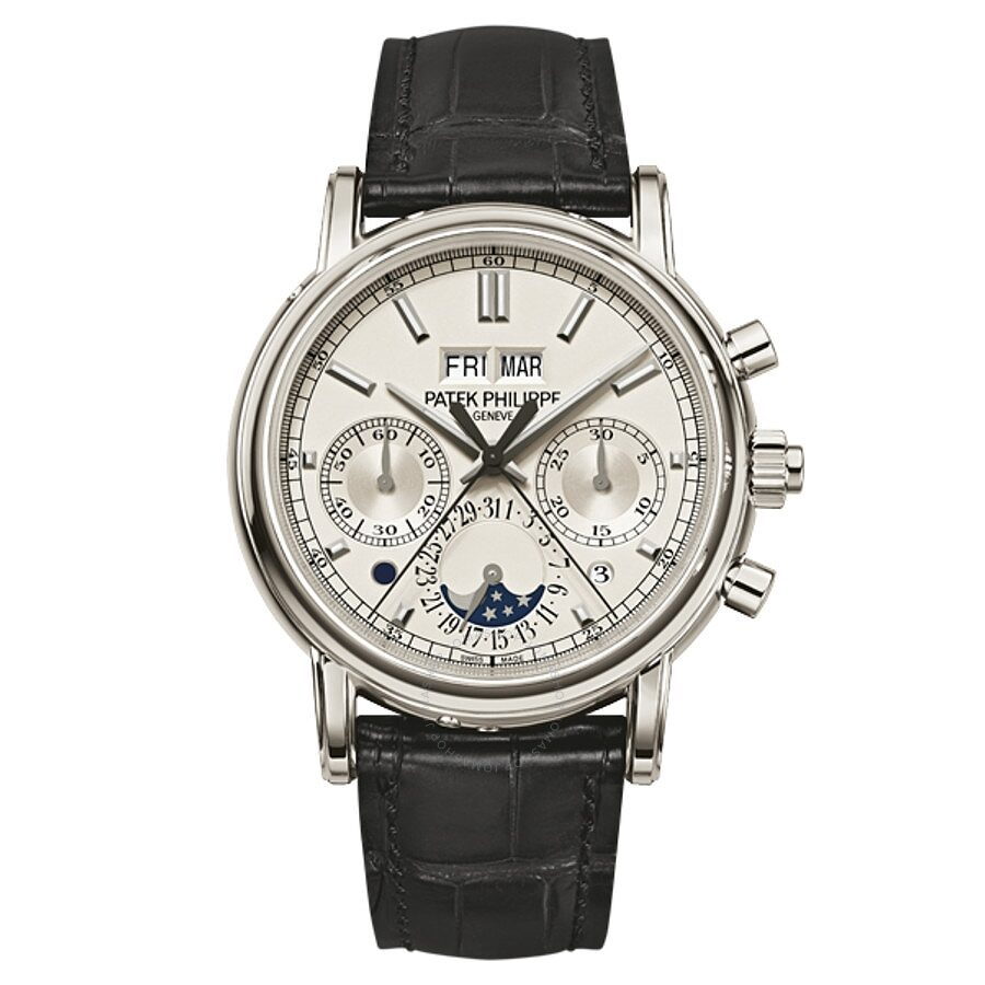 Patek Philippe Grand Complications Perpetual Chronograph White Dial Mens Wat..