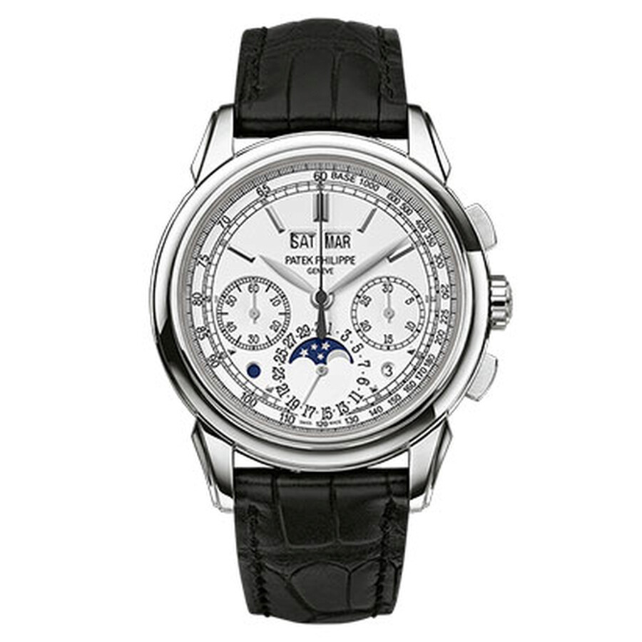 Patek Philippe Grand Complications Silver Dial Chronograph 18K White Gold Mens Watch 5270G-018