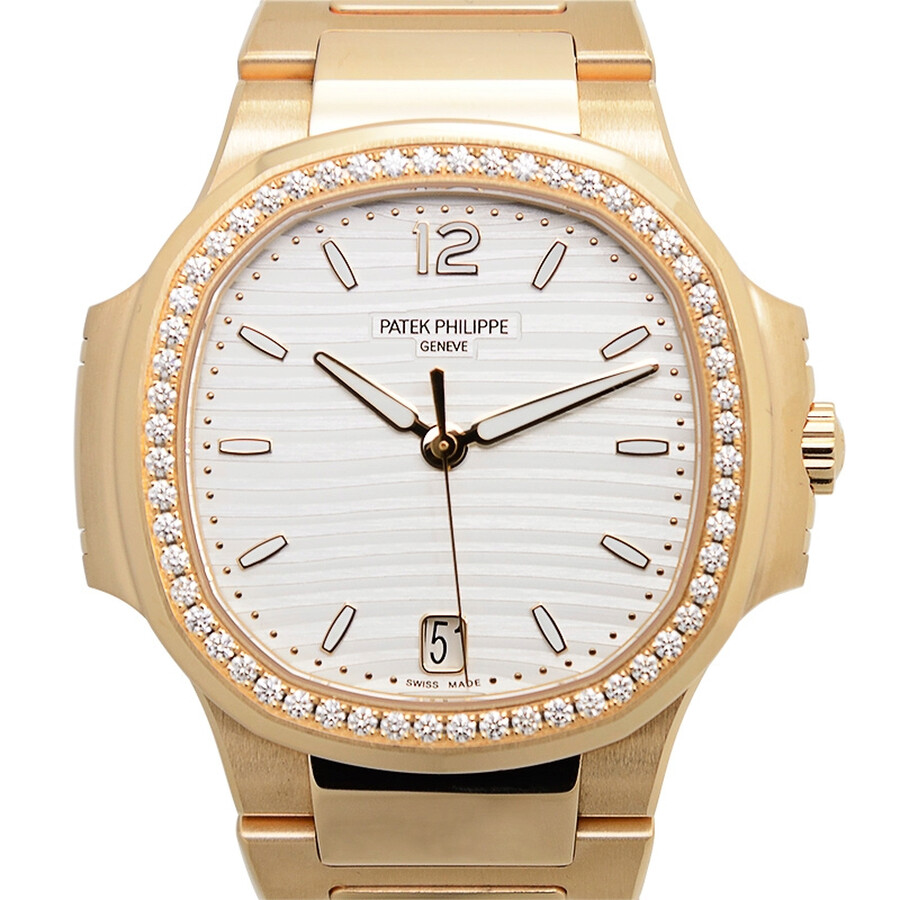 Patek philippe nautilus automatic diamond ladies watch 7118 1200r 001 nautilus patek for Patek philippe nautilus