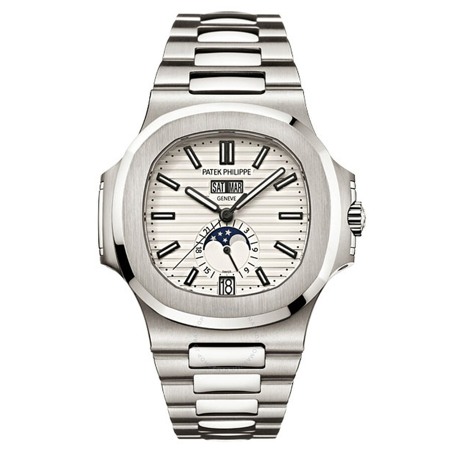 Patek Philippe Nautilus Silver Dial Stainless Steel Mens Mechanical Watch 5726-1A-010
