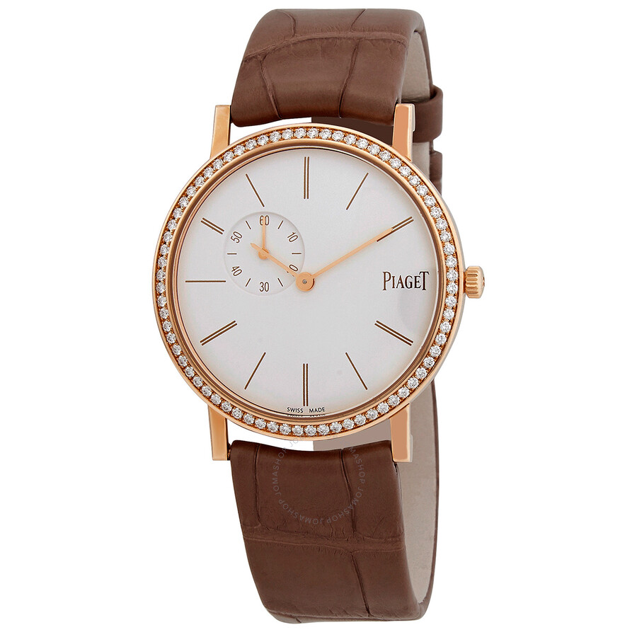 Piaget Altiplano White Dial 18K Rose Gold Diamond Ladies Watch GOA39107