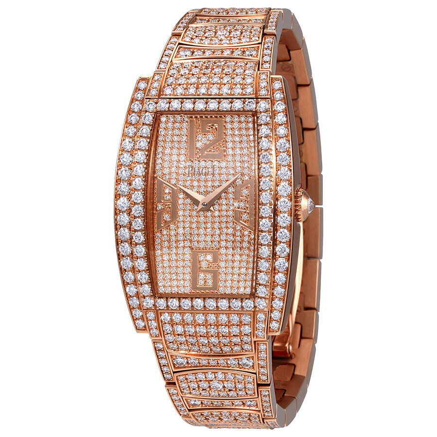 Piaget Limelight Diamond Dial 18Kt Rose Gold Ladies Watch G0A36194