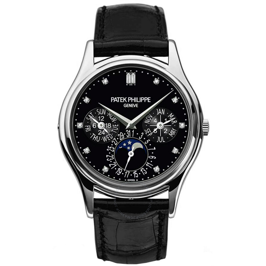 Patek Philippe Grand Complications Black Diamond Dial Automatic Mens Watch 5..