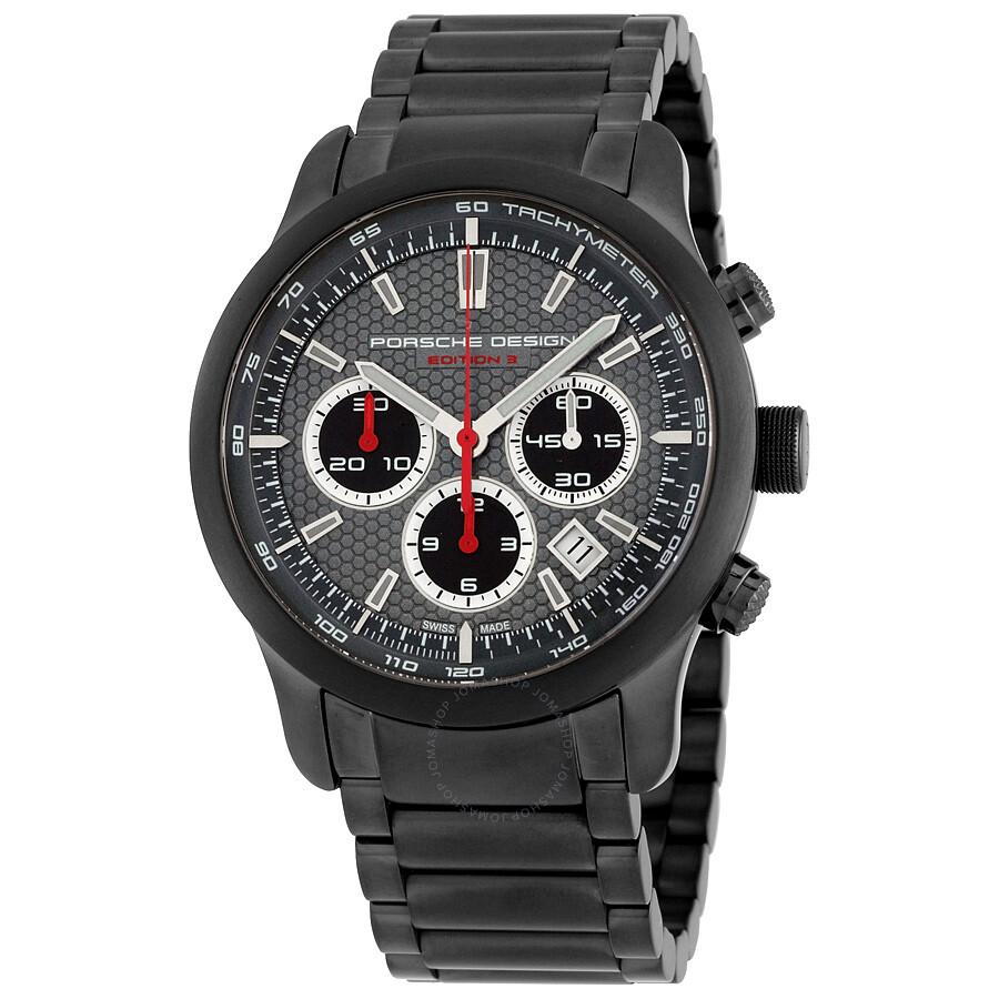 Porsche Design Edition 3 Black IP Steel Automatic Mens Watch 661219510259-3