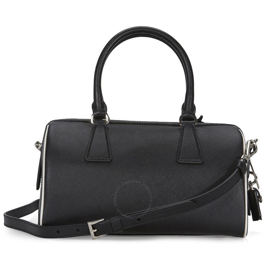 0bc5a559f909 1234567891011 d4bf2 18a34  best price prada 2 way lux saffiano leather shoulder  bag black talc e0a17 e19dd