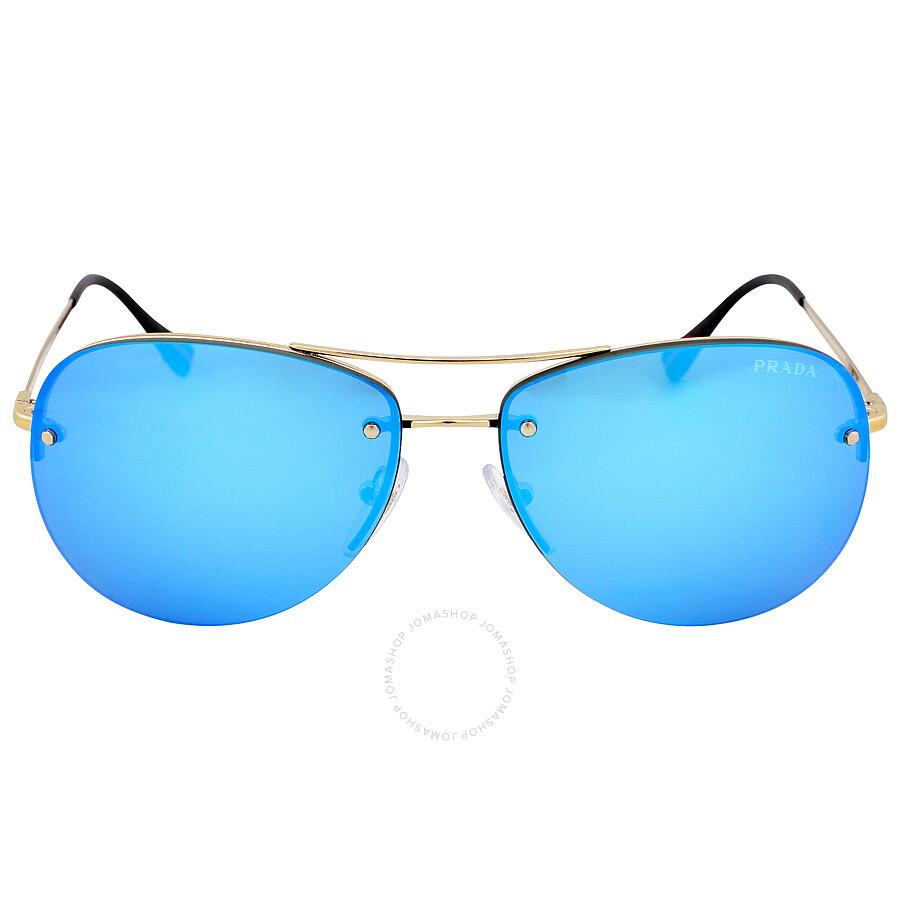 445017af126e ... hot prada aviator light green mirror blue sunglasses ps 50rs zvn5m2 59  4097f d55d5