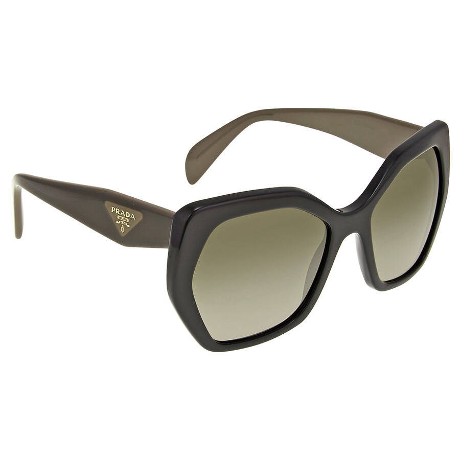 Prada Black Frame Brown Gradient Sunglasses - Prada - Sunglasses ...