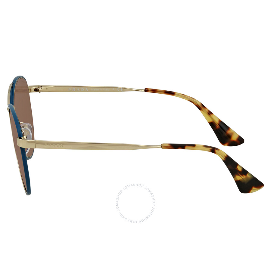 ab9a3fbdeb4 ... low price prada brown aviator ladies sunglasses pr 63ts sl58c1 55 888e2  e3824