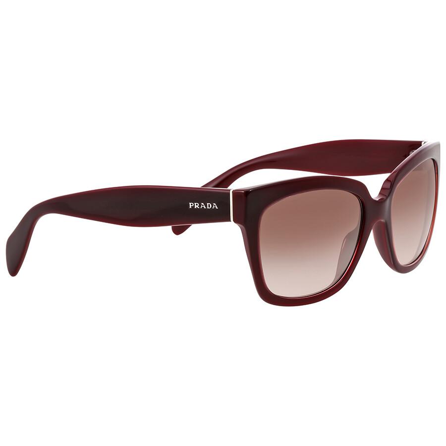 7264799b5a9 ... canada prada brown gradient burgundy sunglasses d57ed cab9c