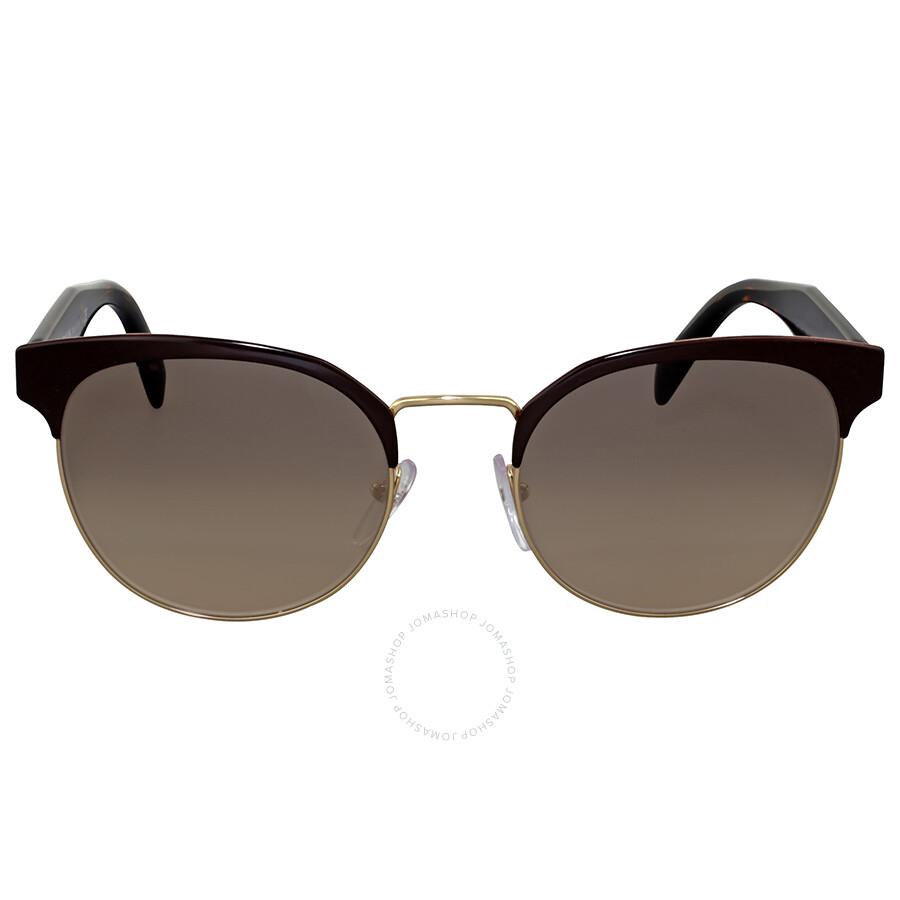 3842b045068 Prada Brown Gradient Metal Sunglasses