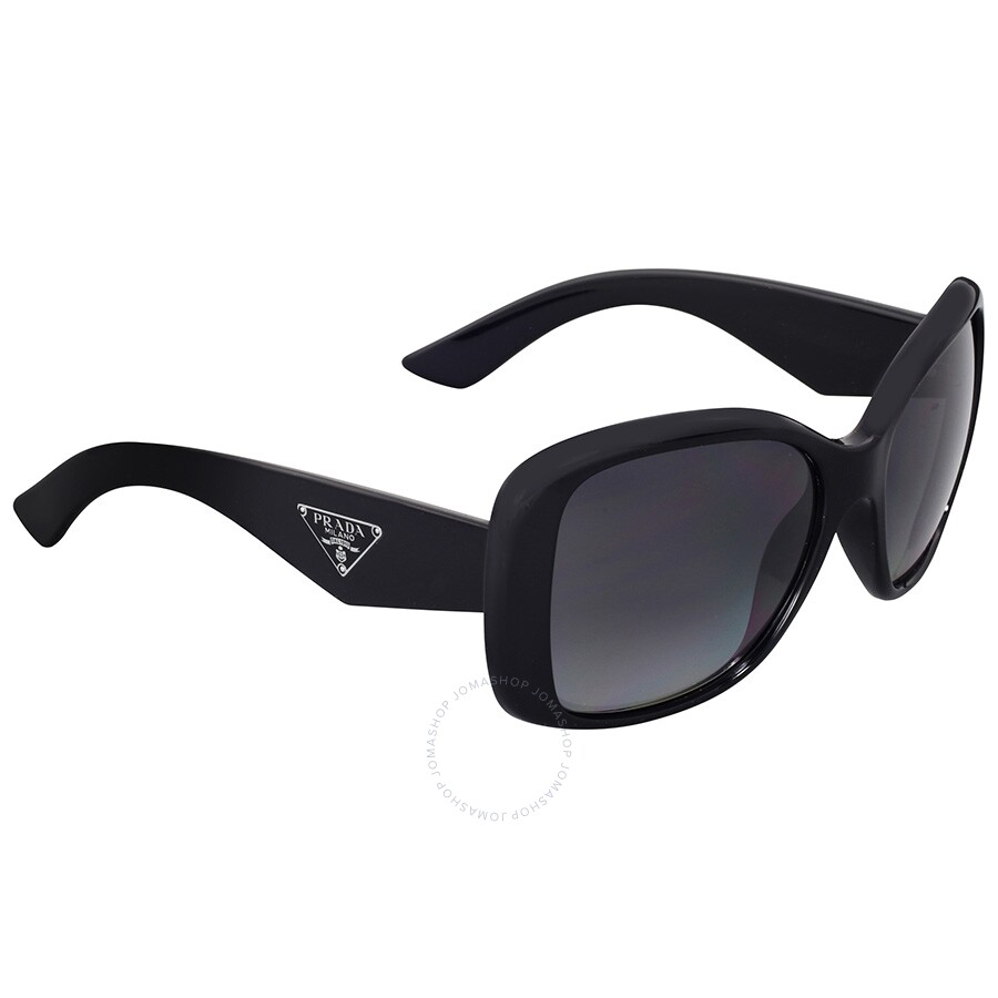 prada prada butterfly triangle polarized grey sunglasses