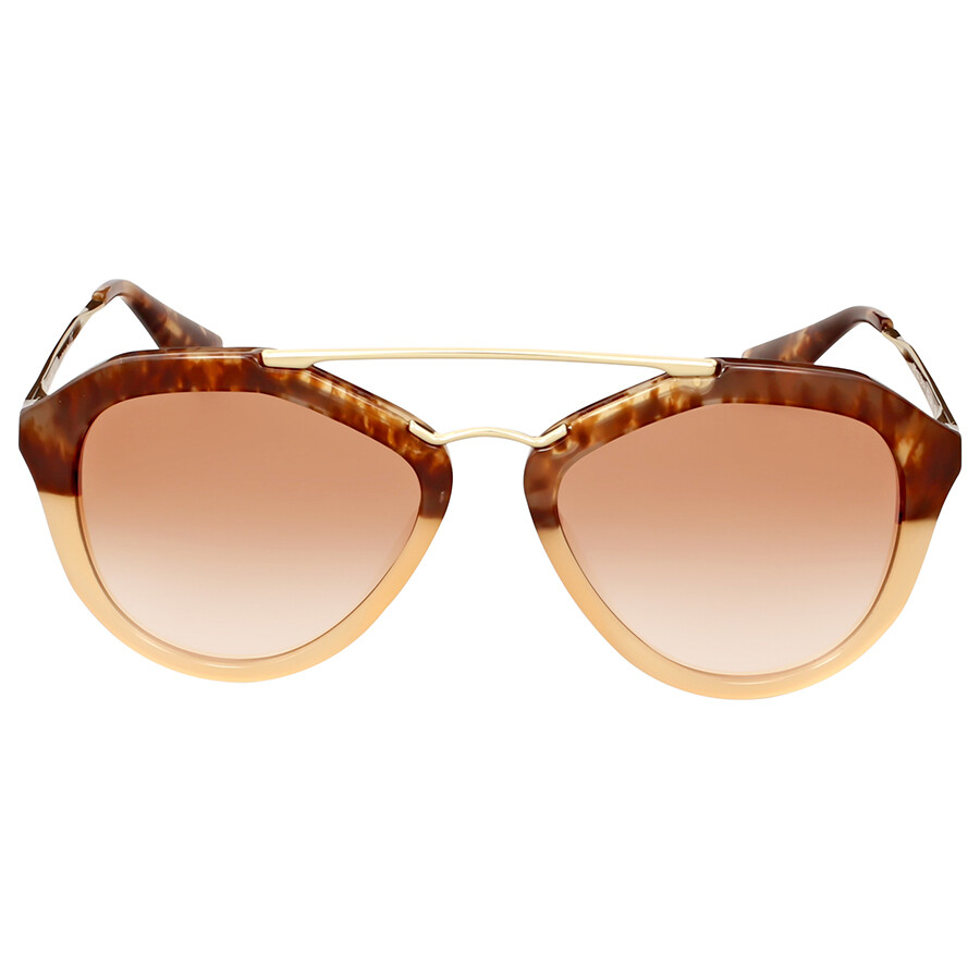 prada prada cinema brown havana gradient sunglasses