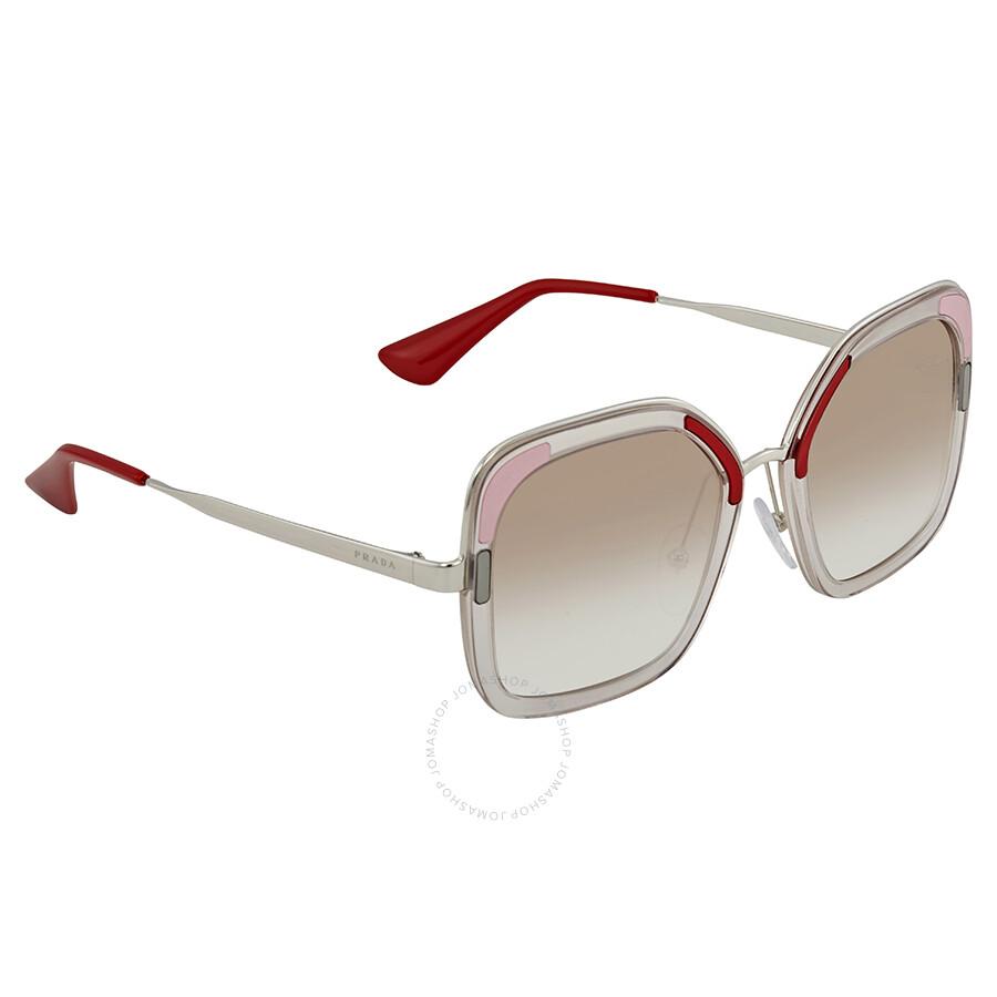 6cc4b205d2f ... usa prada clear gradient brown square ladies sunglasses pr 57us loh1l0  54 39818 83ad8