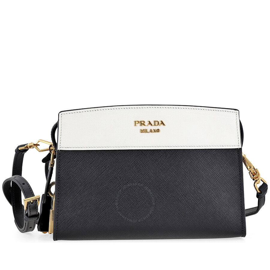 860590302b6f ... buy prada esplanade shoulder bag black and white 12a25 4f2c8