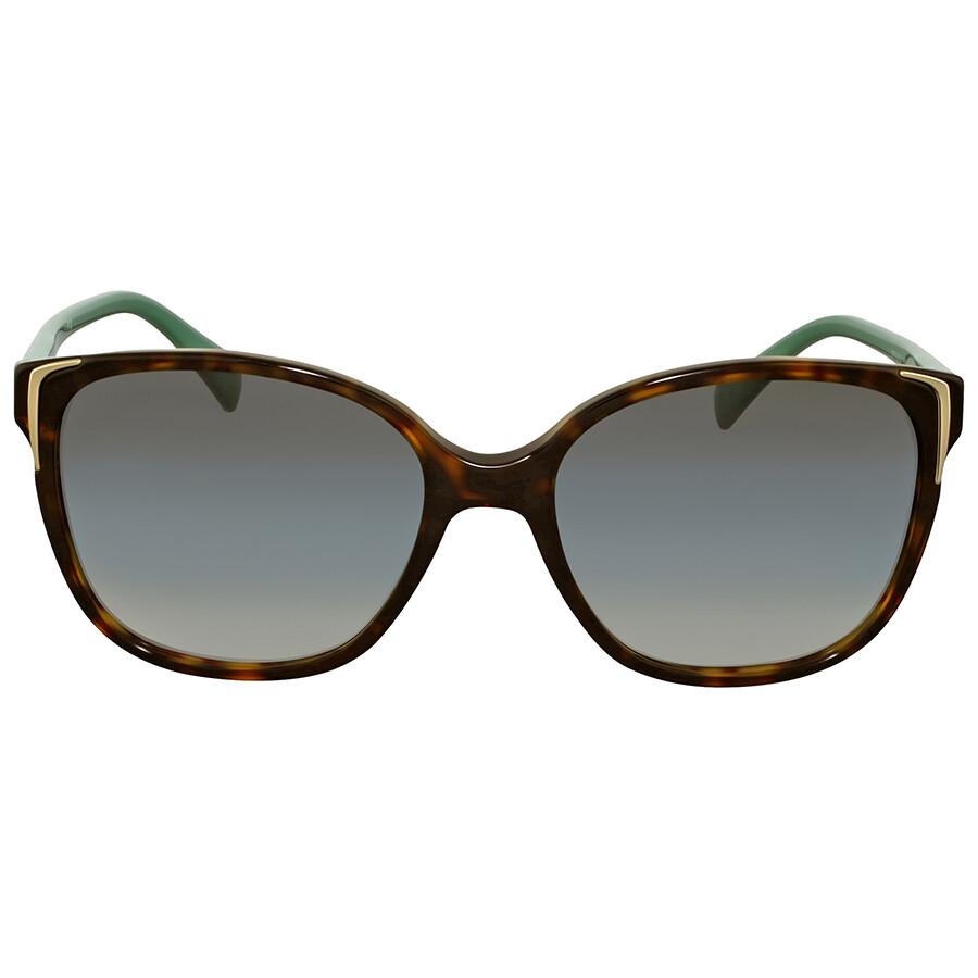 ae1c83d9669 Prada Green Gradient Square Sunglasses