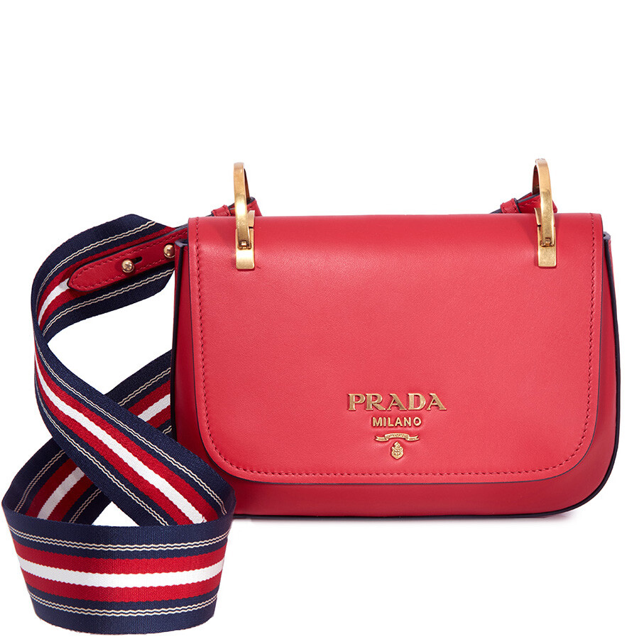 a05b46c0ddff ... cheap prada leather shoulder bag red 3f75a 5a315
