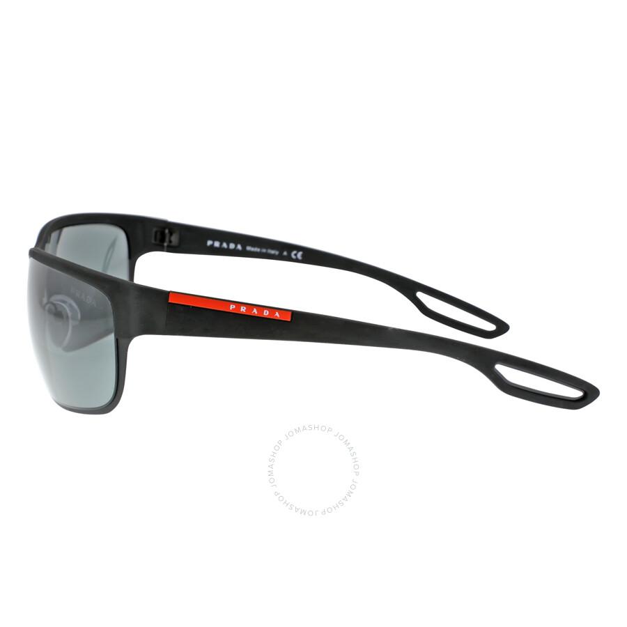 ... Prada Lifestyle Black Rubber/matte Black Sunglasses PS 50QS-DG01A1-64  ...