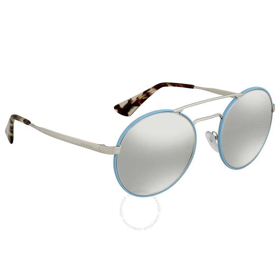 Round-frame Silver-tone Sunglasses - one size Prada t9YjcS