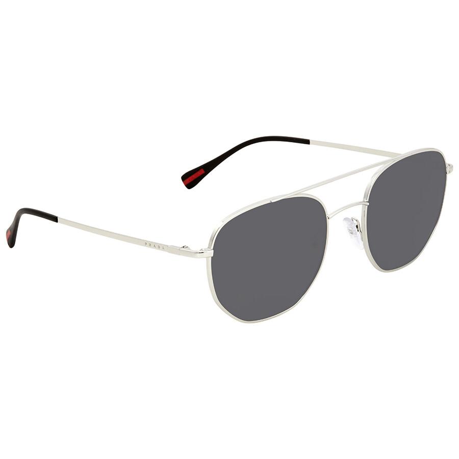 caceb7472bb41 ... new zealand prada linea rossa grey round mens sunglasses ps56ss 1bc5s0  53 96869 ca1ae