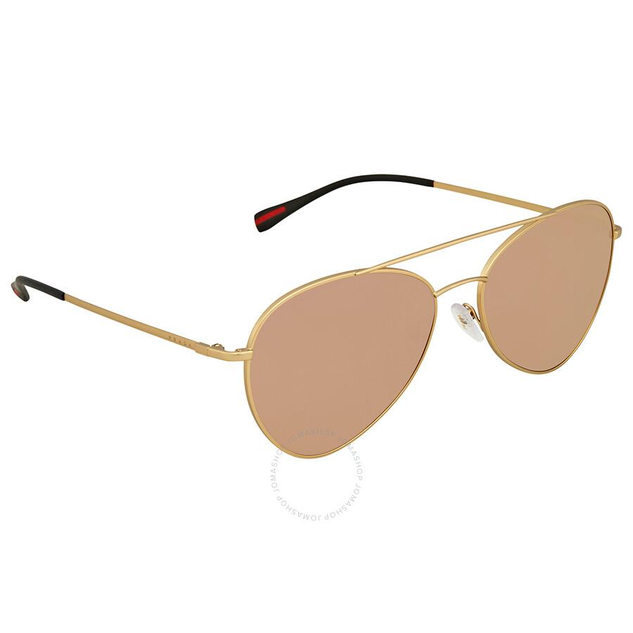 708e8a73107 ... spain prada linea rossa pink gradient mirror aviator mens sunglasses  ps50ss 1bk6q2 60 4dc30 ec076