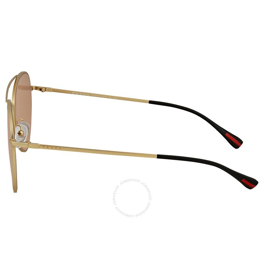 3760a443d58 ... spain prada linea rossa pink gradient mirror aviator mens sunglasses  ps50ss 1bk6q2 60 43c1b c214f