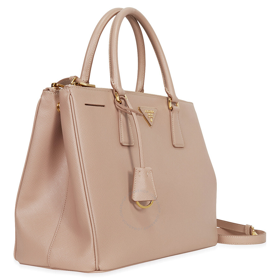 ... handbag 8abc9 e63b9  spain prada lux large double zip saffiano leather  tote cammeo 174b2 0b30c 81fd401fd8b4d