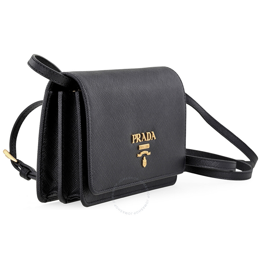 6d0ad51643 cheap prada lux saffiano leather mini shoulder bag black 8f1ea 6d1e0