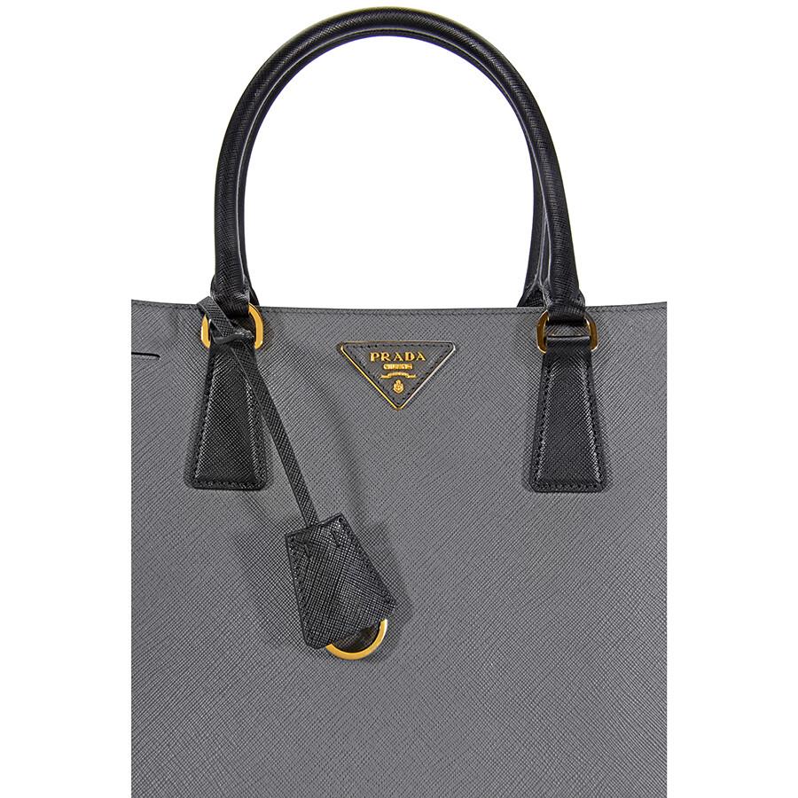 1789776c90ca canada prada lux saffiano leather tote mercury and black 8210a 248fd