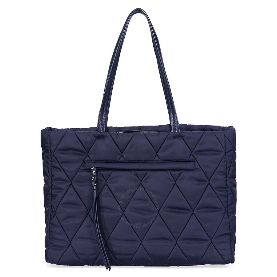 7334c1eb991b40 ... new zealand prada medium quilted nylon tote bag navy blue e176e a571b