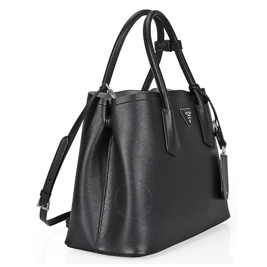 45bb91f5f8 ... canada prada medium saffiano leather shoulder bag black a5899 3fbf7