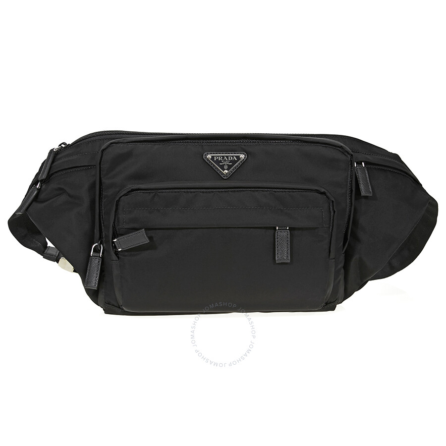 7a42c2455ef3 ... good prada nylon belt bag black 6ca85 e136a