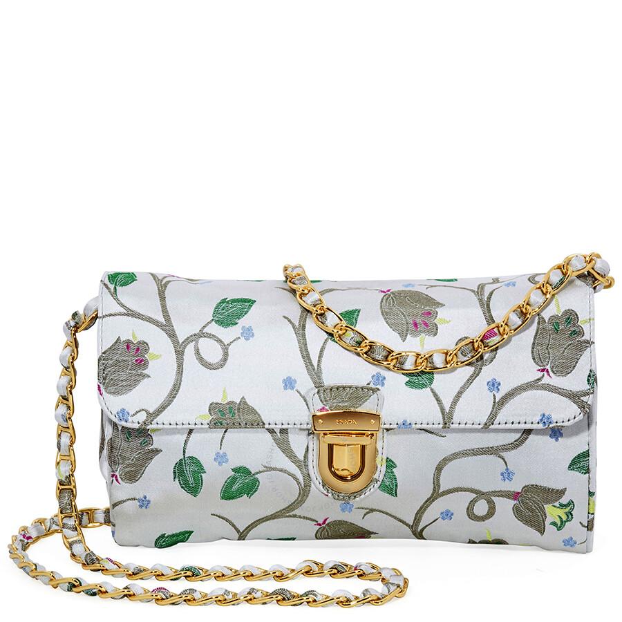 aed1084c70e ... wholesale prada nylon shoulder bag light blue floral print 2280e fe022  ...