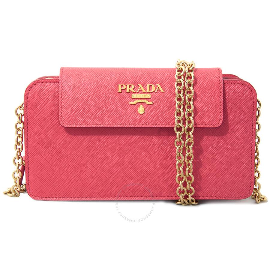 e87300e63e65 ... netherlands prada phone holder clutch peony pink 6c6ad 78265 order prada  womens black long wallet instock 63bef 9ecb8 discount ...